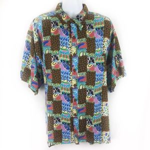 KAHALA | HP!!! Hawaiian shirt coffee themed Xxl